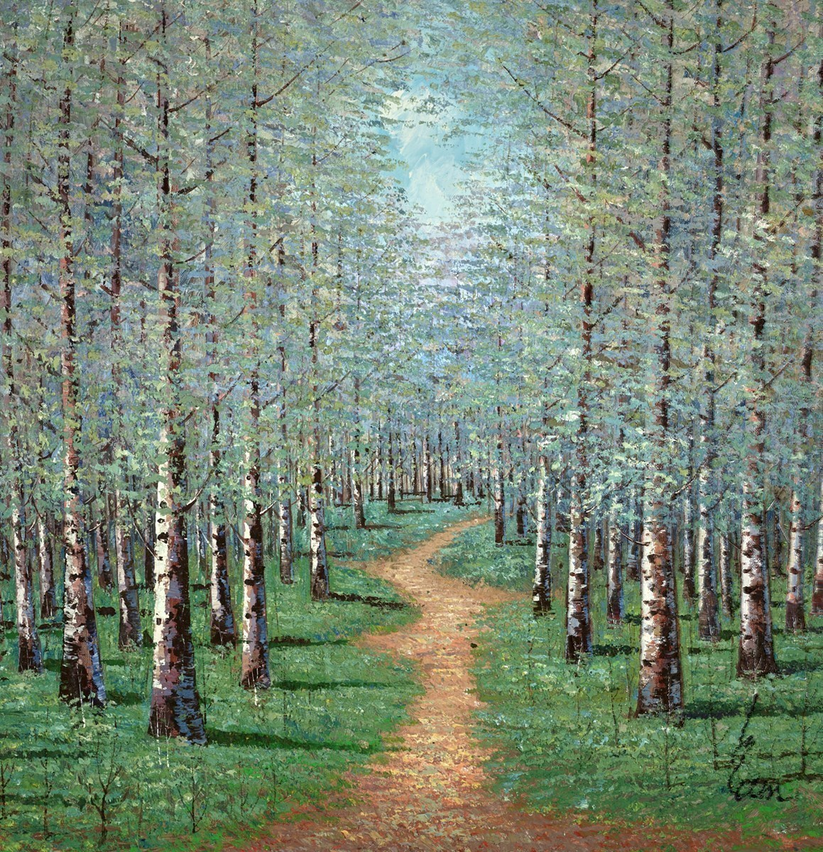 A Walk in the Woods IV by Inam -  sized 59x59 inches. Available from Whitewall Galleries